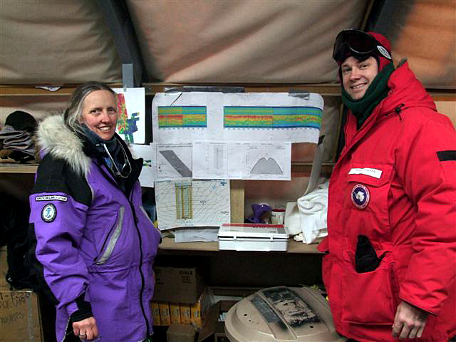 Scientists in field camp.