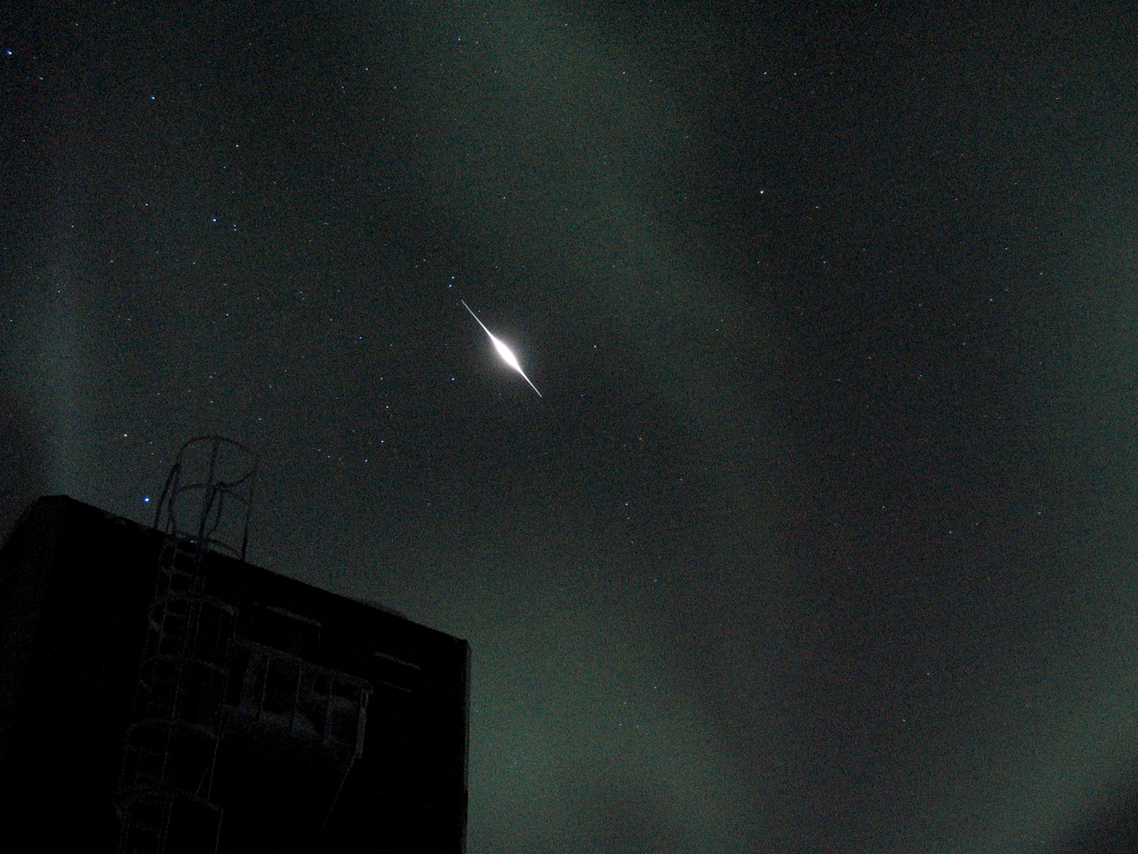 Iridium flare over the South Pole.