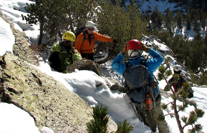 Scientists train for fieldwork in the Sierra Mountains.