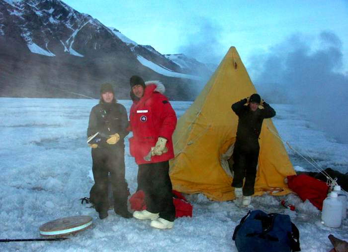 Scientists in the McMurdo Dry Valleys