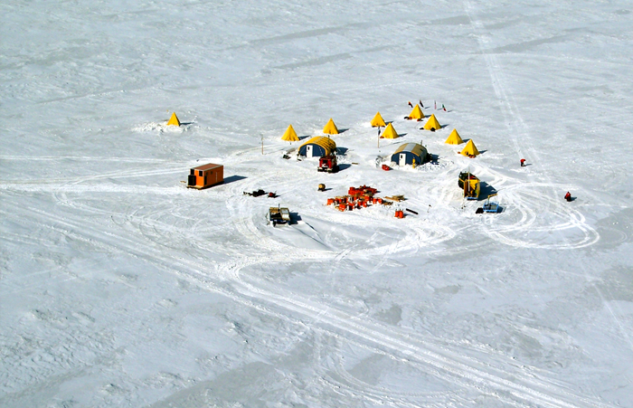 ANDRILL sea ice camp in 2005.
