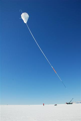 The CREAM long-duration balloon launches from McMurdo.