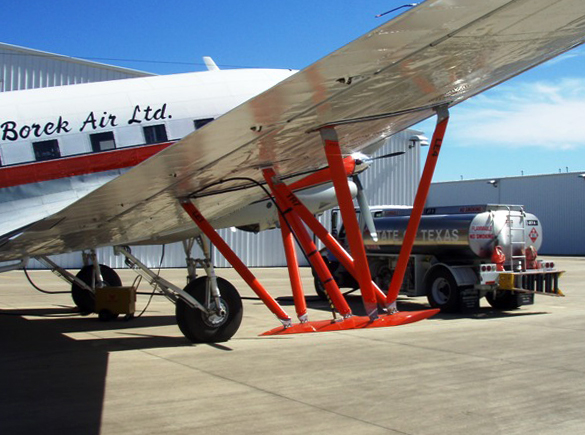 Converted DC-3 aircraft to be used in Antarctica.