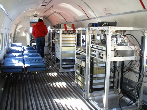 Interior of ICECAP aircraft.
