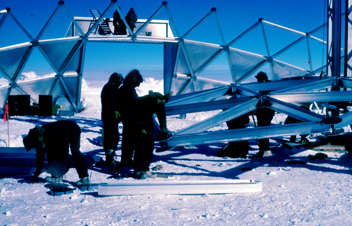 South Pole Dome Construction