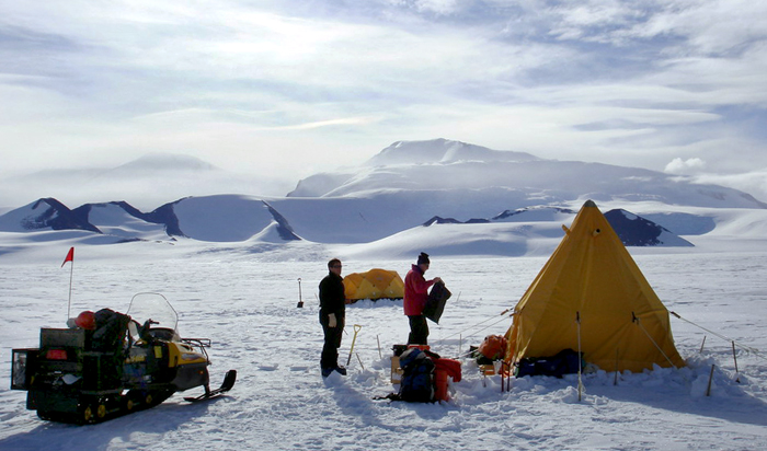 Science camp on the Shackleton Glacier.