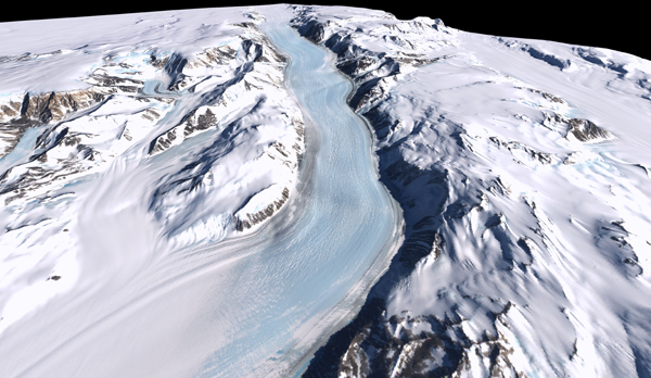 Map of Antarctic Glacier