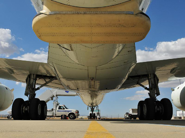 Under carriage of an airplane.