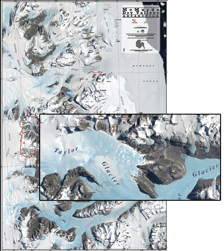 Map of McMurdo Dry Valleys