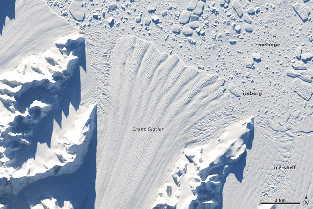Crane Glacier before Larsen B collapse.