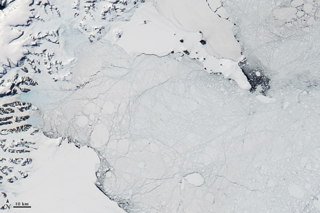Larsen B Ice Shelf after collapse.