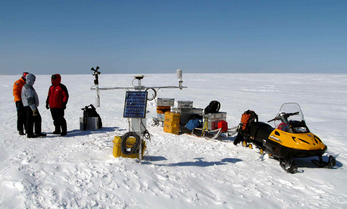 Automatic weather station in Greenland.