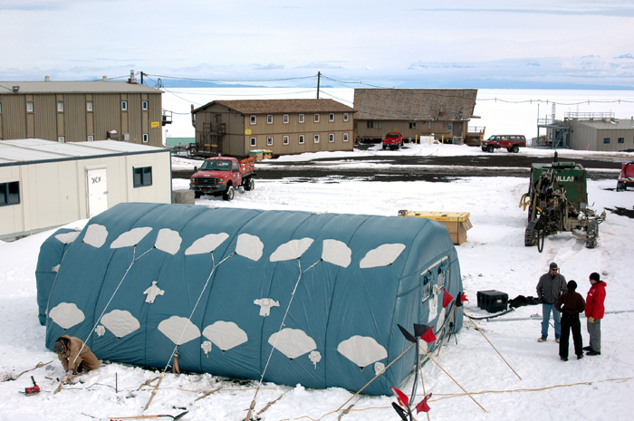 Lunar habitat at McMurdo Station.