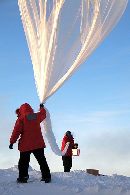 Science balloon launched at South Pole.