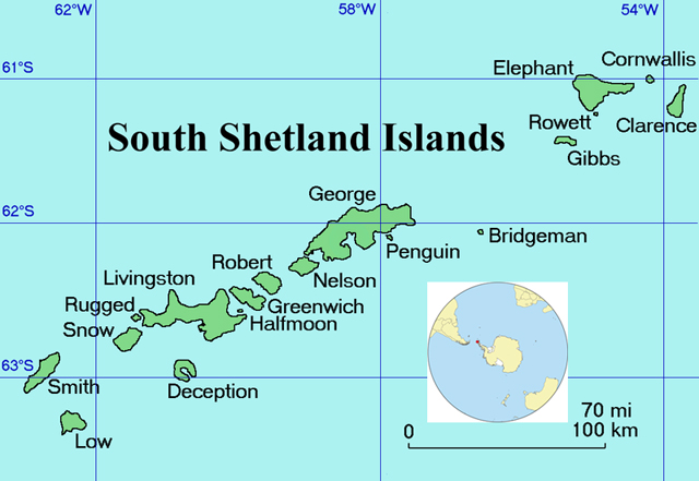 Map of islands.