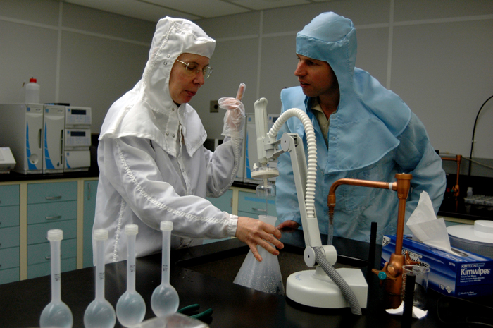 Scientists in BPRC Clean Room
