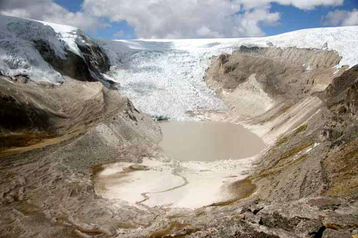 Qori Kalis Glacier on the Quelccaya Ice Cap