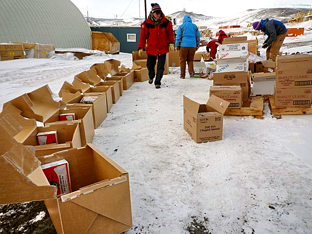Organizing provisions in McMurdo.