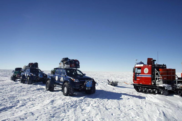 A 'traffic jam' in East Antarctica.