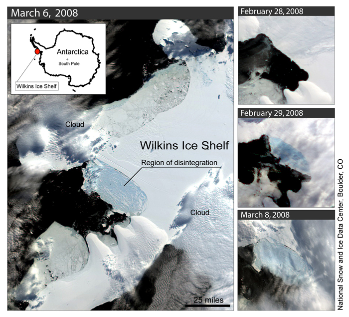 Satellite Images of Wilkins Ice Shelf