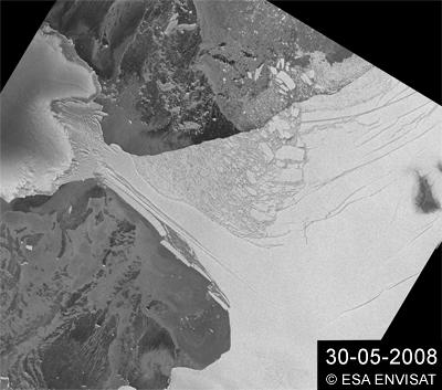 Satellite Image of Wilkins Ice Shelf