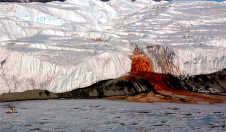 Blood Falls and Taylor Glacier.