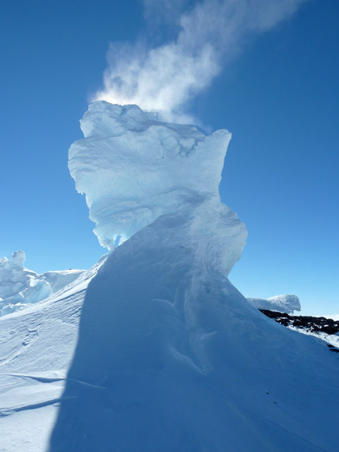 Ice tower on Mount Erebus.