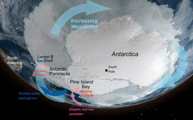 Graphic illustration of Antarctica.