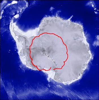 Graphic of Antarctica