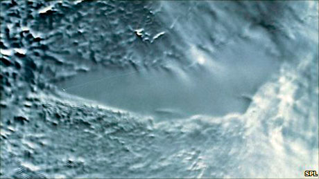 Satellite image of Lake Vostok.