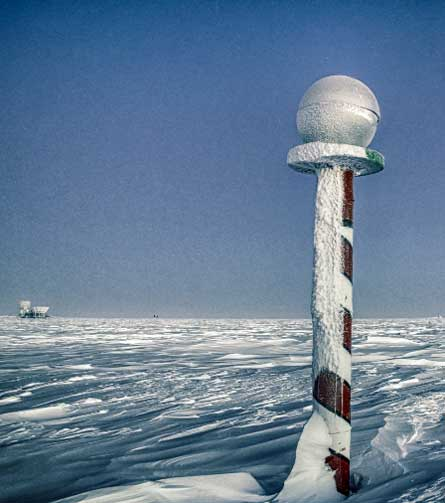 Frost cover barber pole.