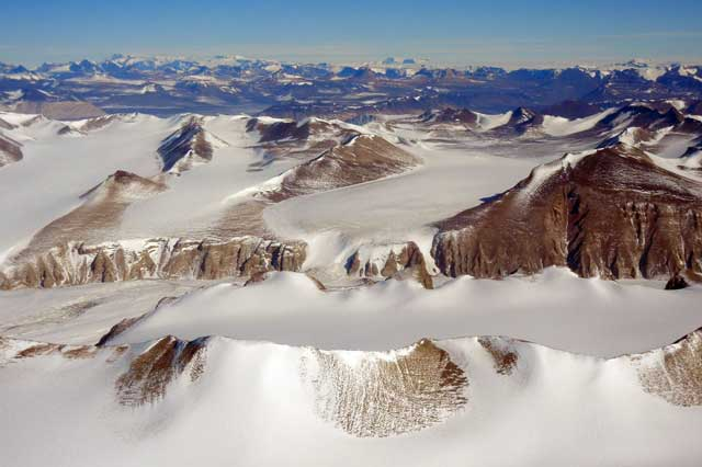 Aerial view of mountains.