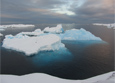 Icebergs drift off the Antarctic Peninsula. A new study found that the West Antarctic Ice Sheet began melting about 5,000 years earlier than previously thought.