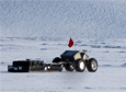 The Yeti robot tows a radar in a crevassed area of Greenland in March 2014.