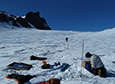Researchers set up their equipment on Mount Erebus to probe the interior of the volcano.